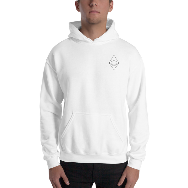 Ethereum line design - Men's Embroidered Hoodie