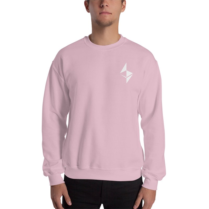 Ethereum surface design - Men's Embroidered Crewneck Sweatshirt