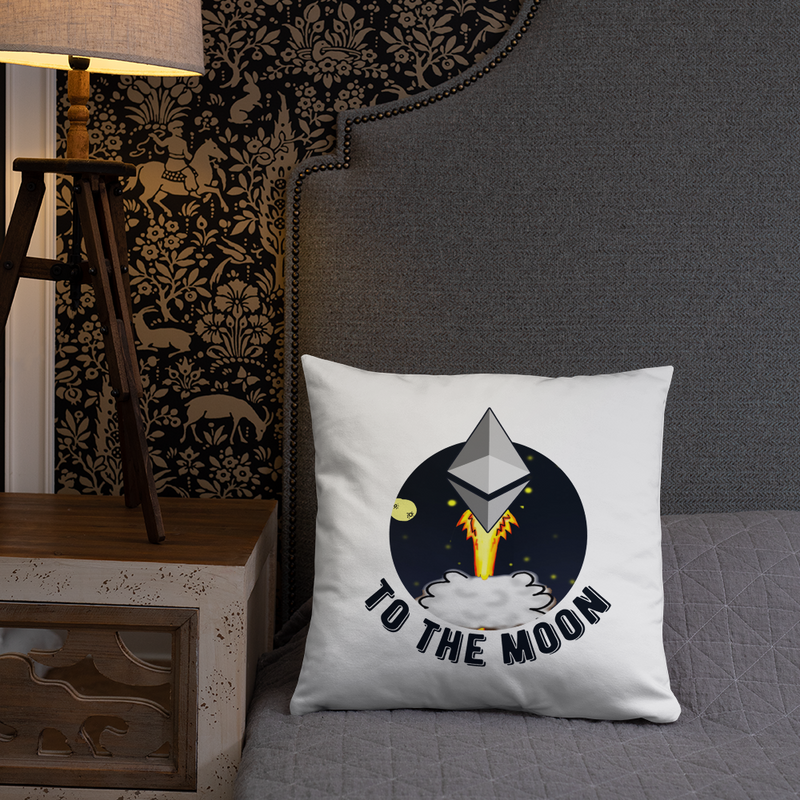 Ethereum to the moon - Pillow