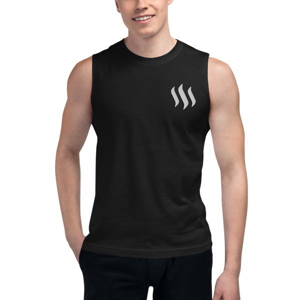 Steem – Men's Embroidered Muscle Shirt