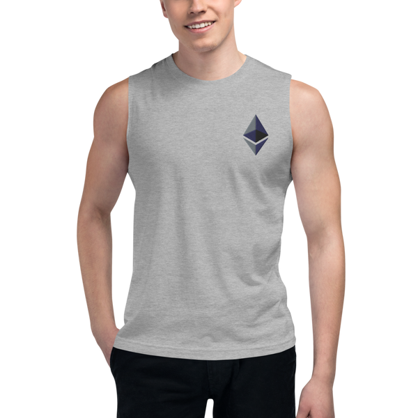 Ethereum – Men's Embroidered Muscle Shirt
