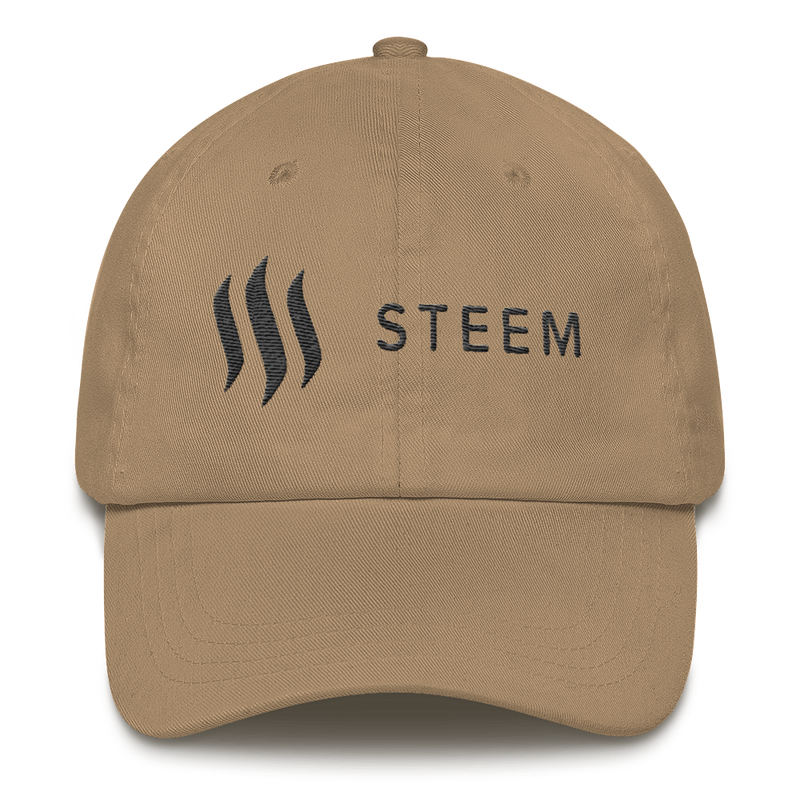 Steem black - Baseball cap