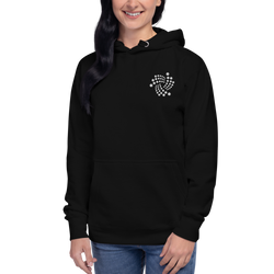 Iota floating – Women's Embroidered Pullover Hoodie