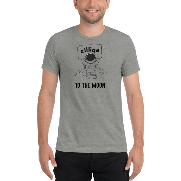 Zilliqa to the moon - Men's Tri-Blend T-Shirt