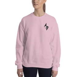 Ethereum surface design– Women's Embroidered Crewneck Sweatshirt