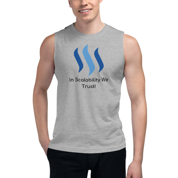 In scalability we trust (Steem) – Men's Muscle Shirt