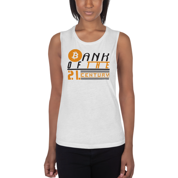 Bank of the 21. century (Bitcoin) – Women's Sports Tank
