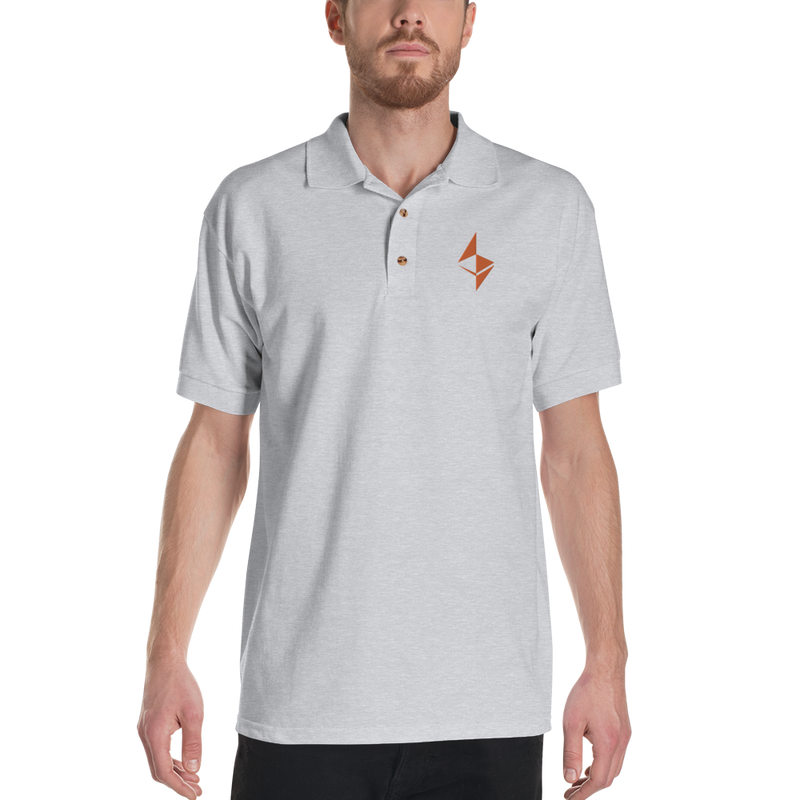 Ethereum - Men's Embroidered Polo Shirt