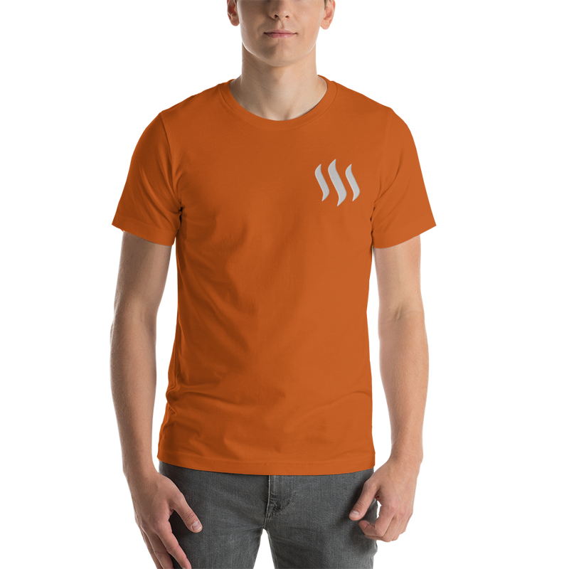 Steem – Men's Embroidered Premium T-Shirt