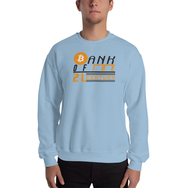 Bank of the 21. century (Bitcoin) - Men's Crewneck Sweatshirt