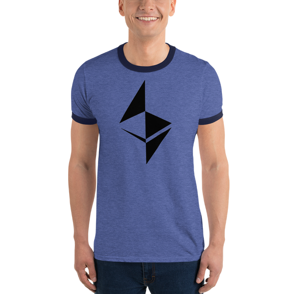 Ethereum surface design - Men's Ringer T-Shirt