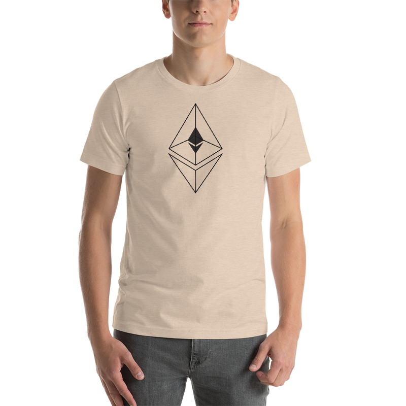Ethereum line design - Men's Premium T-Shirt