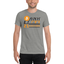 Bank of the 21.century (Bitcoin) - Men's Tri-Blend T-Shirt