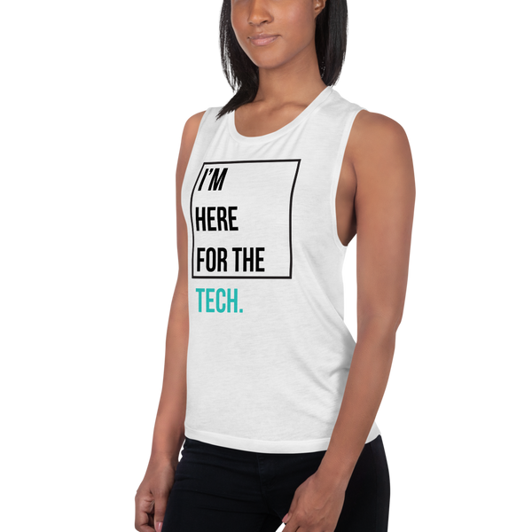 I'm here for the tech (Zilliqa) – Women's Sports Tank