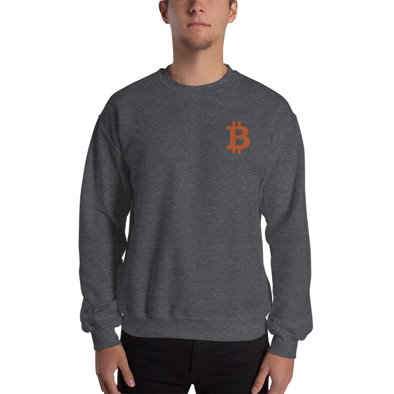 Bitcoin - Men's Embroidered Crewneck Sweatshirt