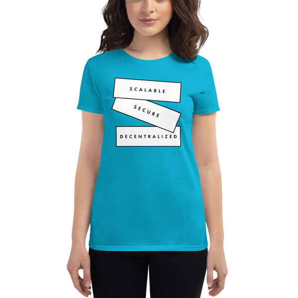 Scalable, secure, decetralized (Zilliqa) – Women's Short Sleeve T-Shirt