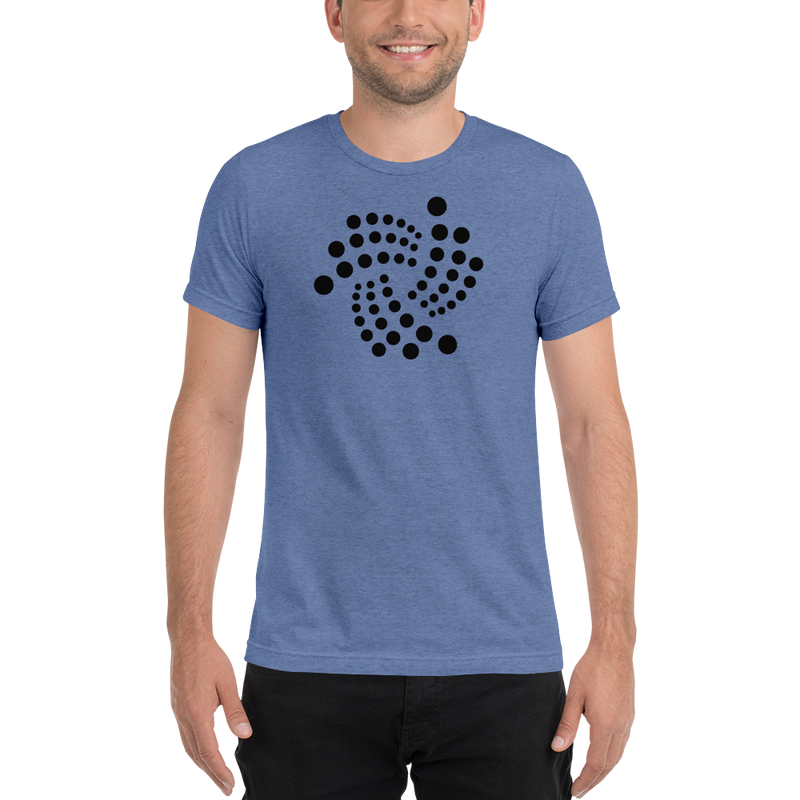 Iota floating design - Men's Tri-Blend T-Shirt