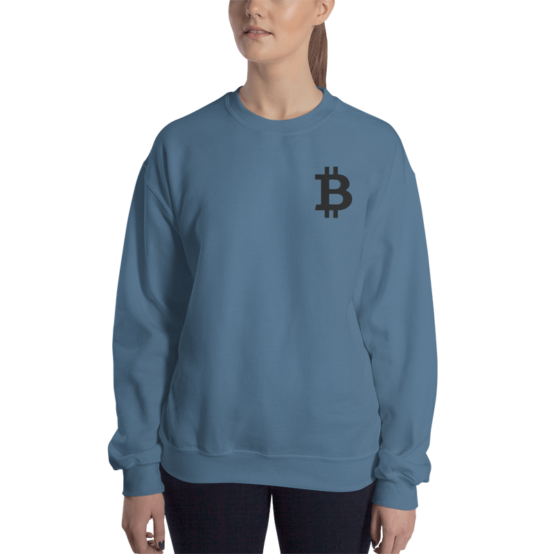 Bitcoin – Women's Embroidered Crewneck Sweatshirt
