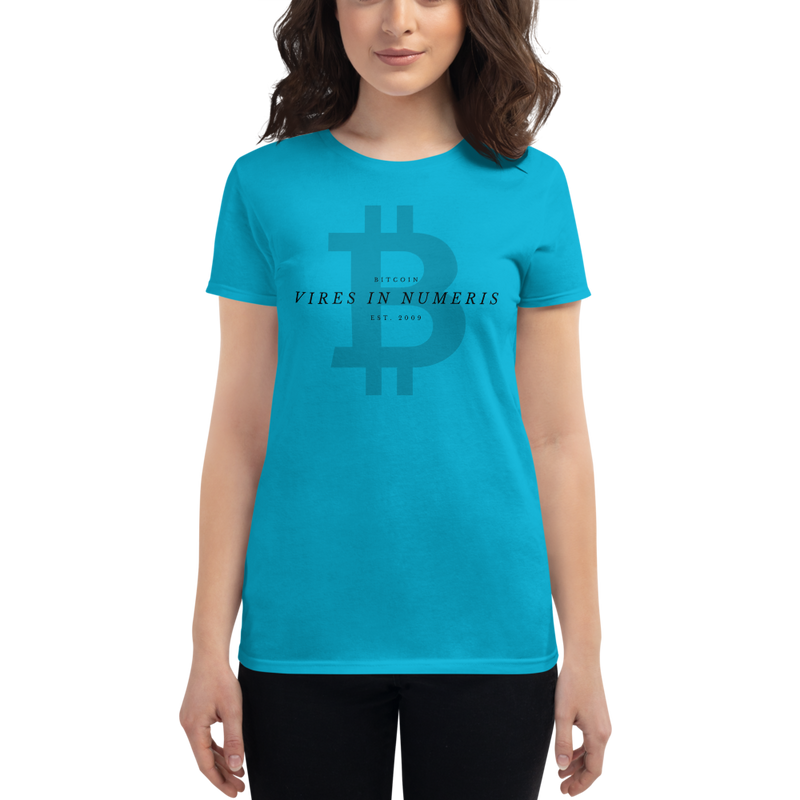 Vires in numeris (Bitcoin) - Women's Short Sleeve T-Shirt