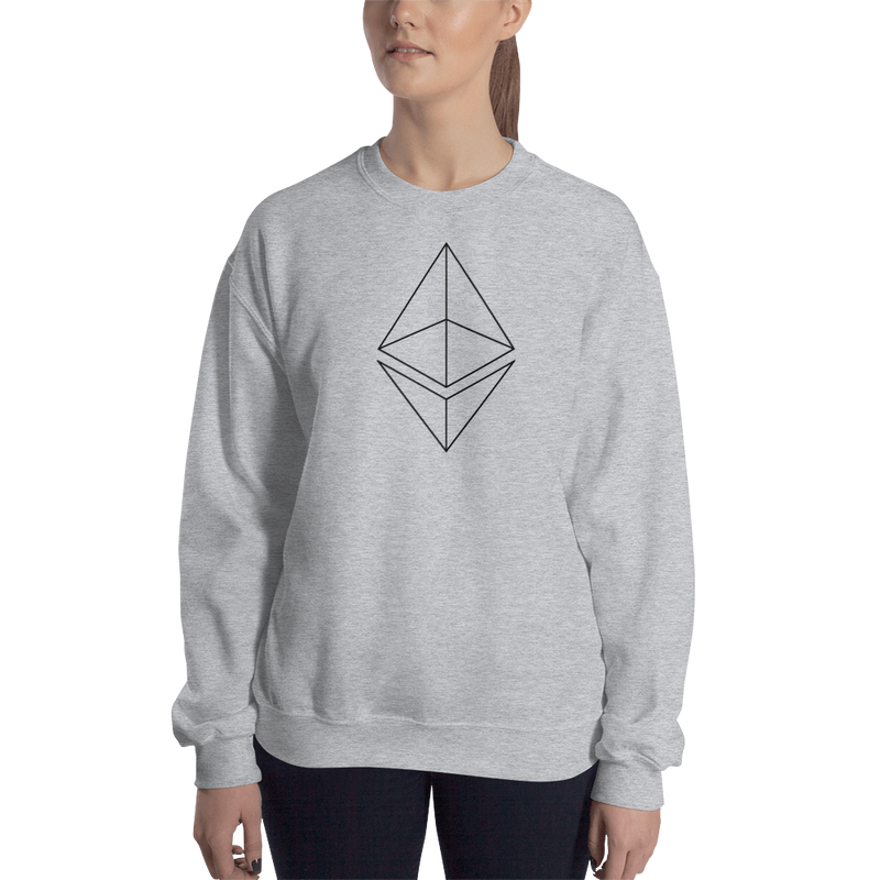 Ethereum line design – Women's Crewneck Sweatshirt