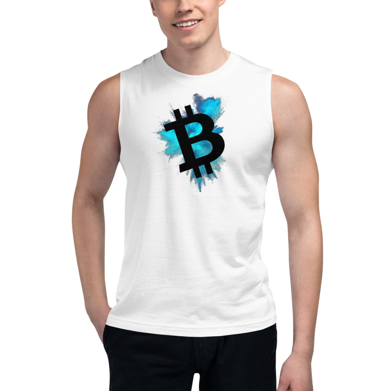 Bitcoin color cloud – Men's Muscle Shirt
