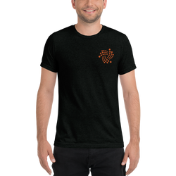 Iota floating design - Men's Embroidered Tri-Blend T-Shirt