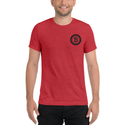 Bitcoin - Men's Embroidered Tri-Blend T-Shirt