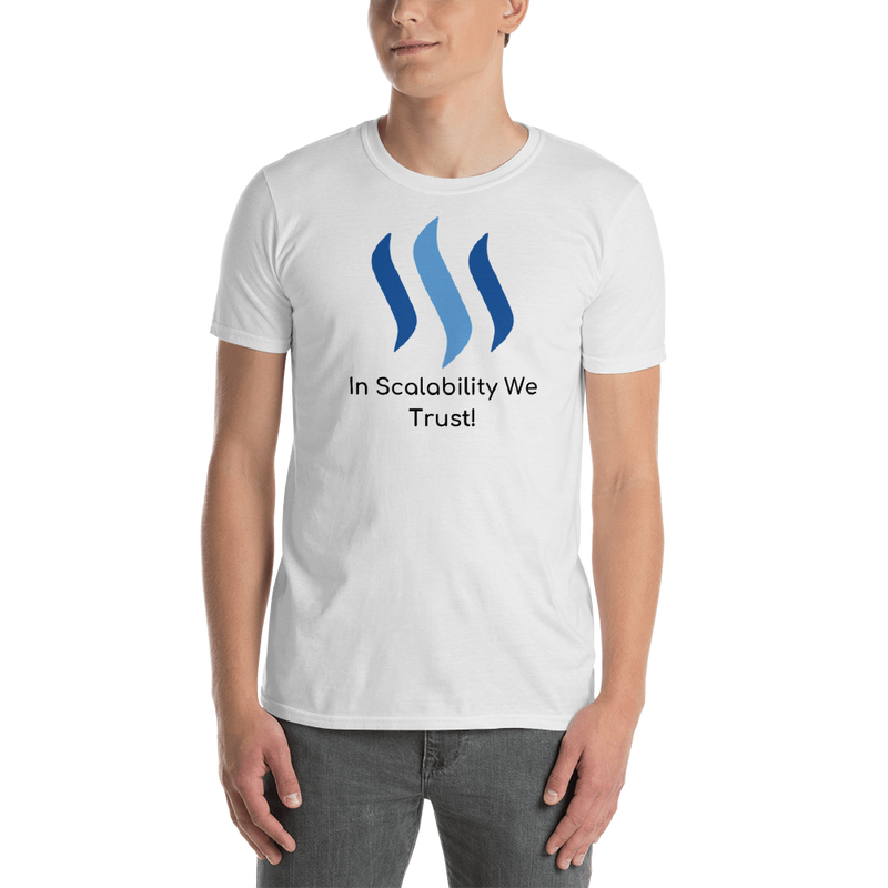 Steem in scalability we trust - Men's T-Shirt