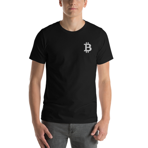 Bitcoin - Men's Embroidered Premium T-Shirt