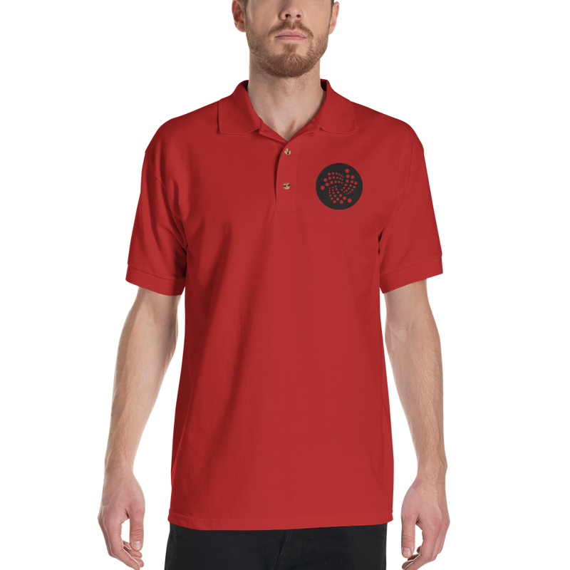 Iota logo - Men's Embroidered Polo Shirt