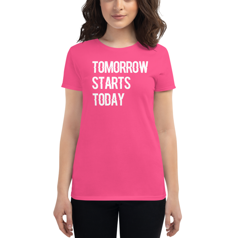 Tomorrow starts today (Zilliqa) – Women's Short Sleeve T-Shirt