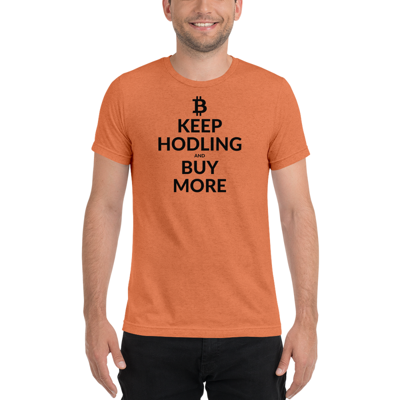 Keep hodling (Bitcoin) - Men's Tri-Blend T-Shirt