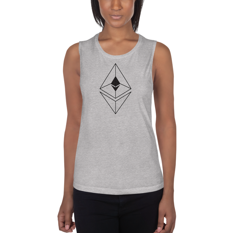 Ethereum line design – Women's Sports Tank