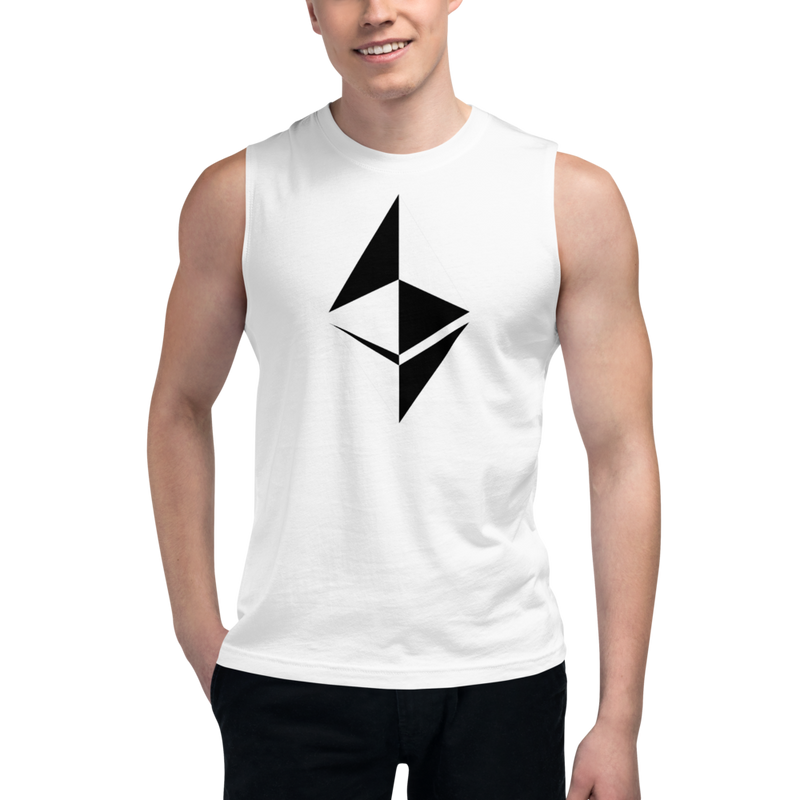 Ethereum surface design – Men's Muscle Shirt
