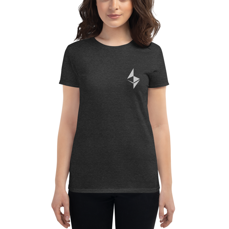 Ethereum surface design - Women's Embroidered Short Sleeve T-Shirt