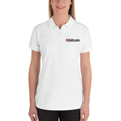 Bitcoin - Women's Embroidered Polo Shirt