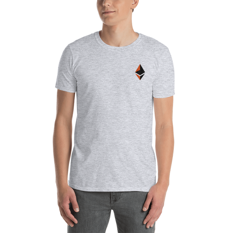 Ethereum logo - Men's Embroidered T-Shirt