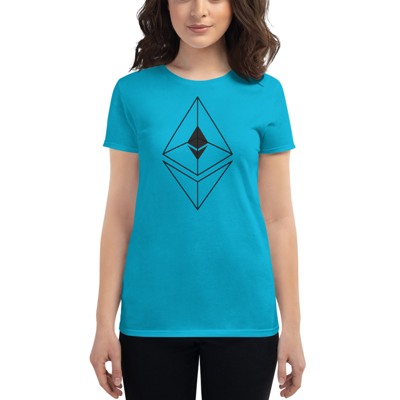 Ethereum line design - Women's Short Sleeve T-Shirt