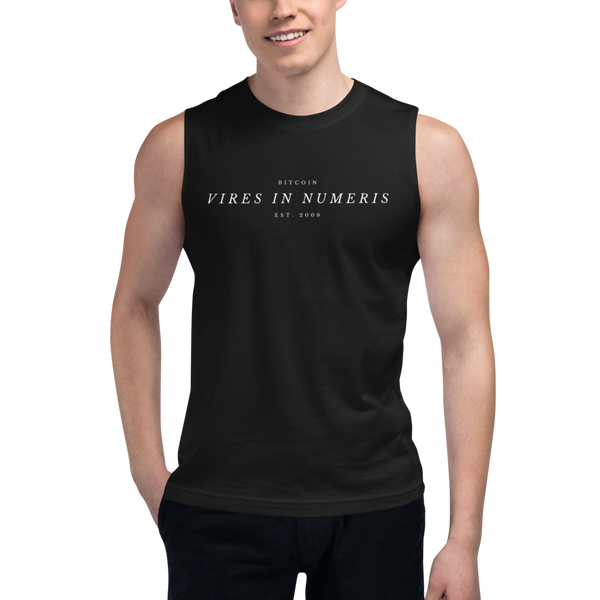Vires in numeris (Bitcoin) – Men's Muscle Shirt