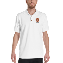 Bitcoin - Men's Embroidered Polo Shirt