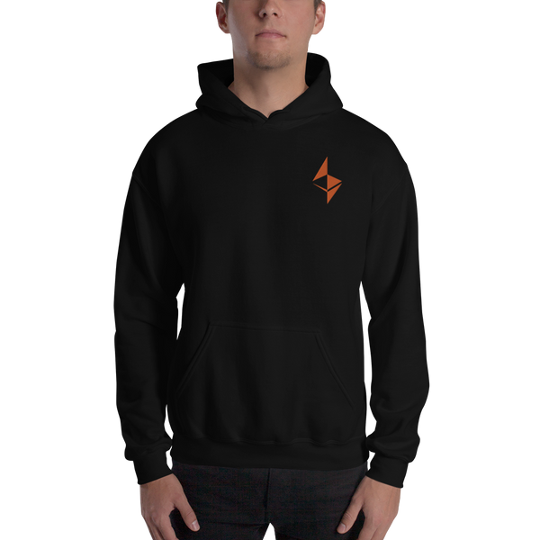 Ethereum surface design - Men's Embroidered Hoodie
