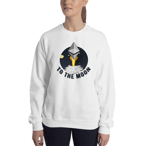 Ethereum to the moon – Women's Crewneck Sweatshirt