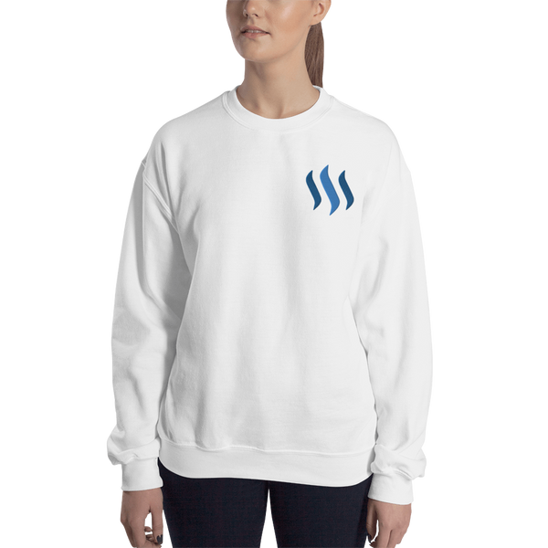 Steem – Women's Embroidered Crewneck Sweatshirt
