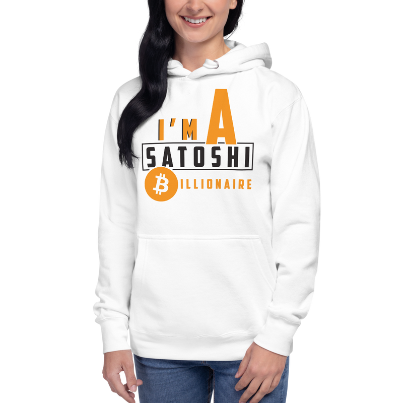 I'm a satoshi billionaire (Bitcoin) – Women's Pullover Hoodie