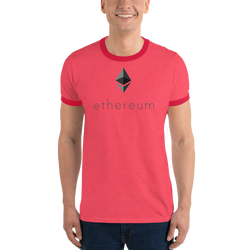 Ethereum logo - Men's Ringer T-Shirt