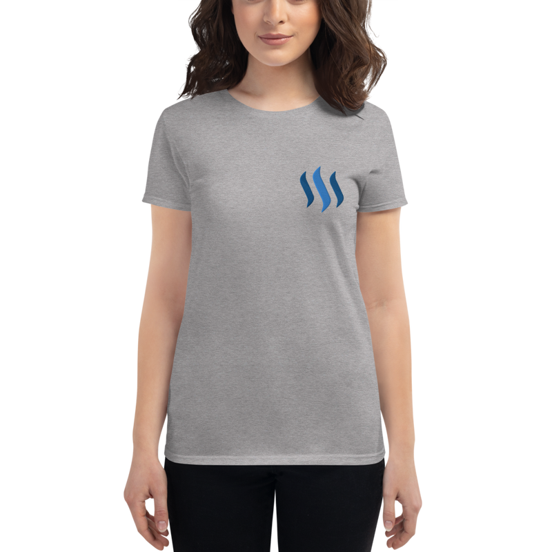 Steem - Women's Embroidered Short Sleeve T-Shirt