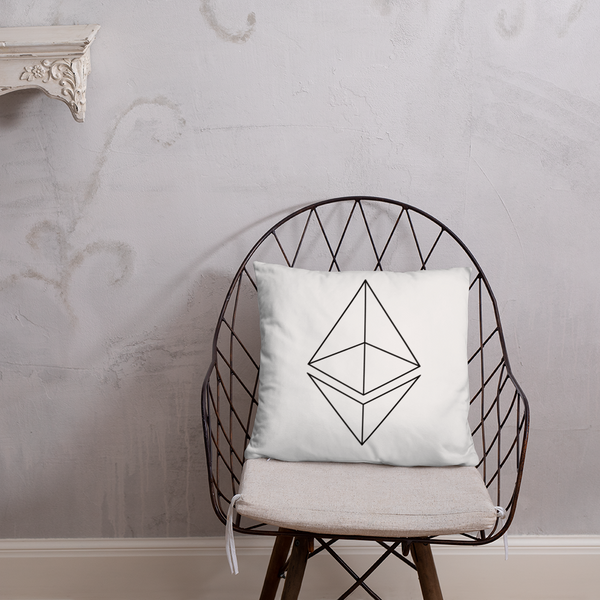 Ethereum line design - Pillow