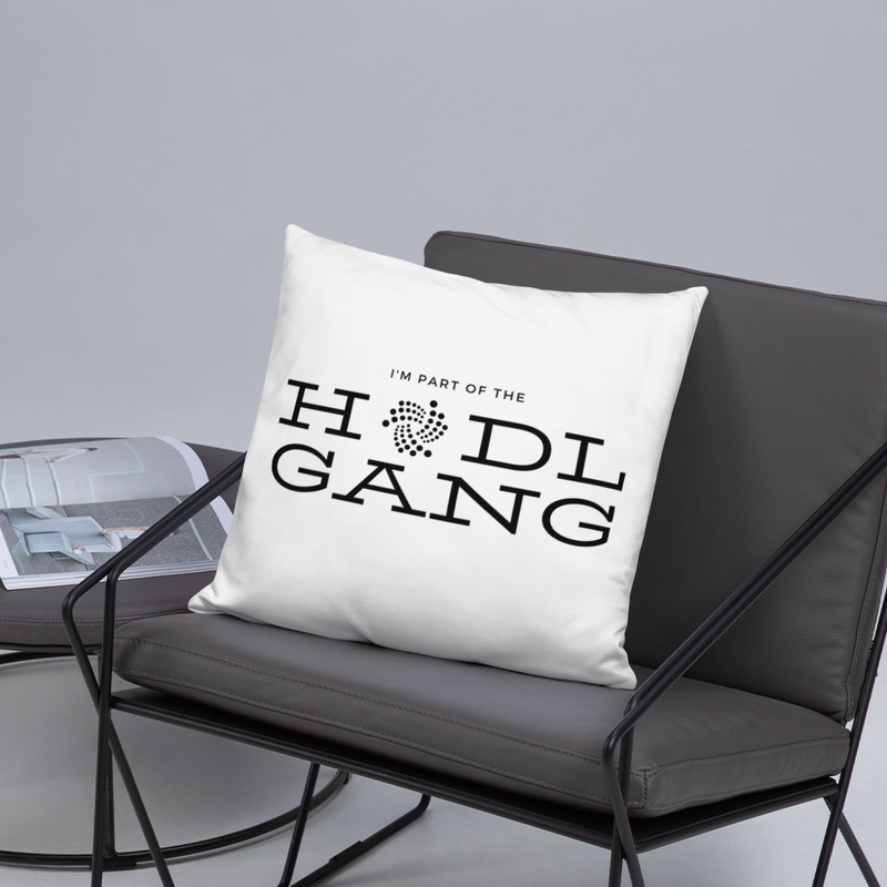 Hodl gang (Iota) - Pillow
