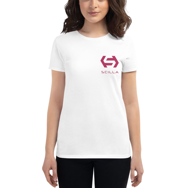 Scilla – Women's Embroidered Short Sleeve T-Shirt