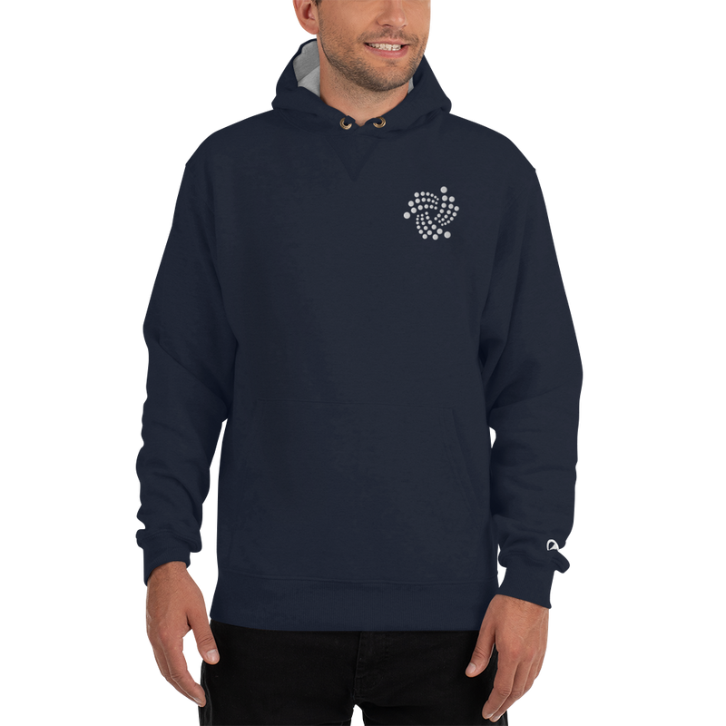 Iota floating design – Men's Embroidered Premium Hoodie